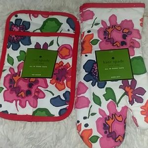 NWT Lot 2 Kate Spade Floral Kitchen Accessories Ov